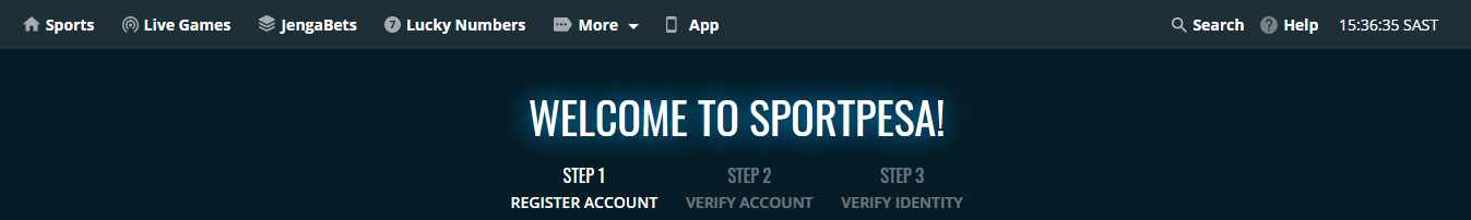 SportPesa registration