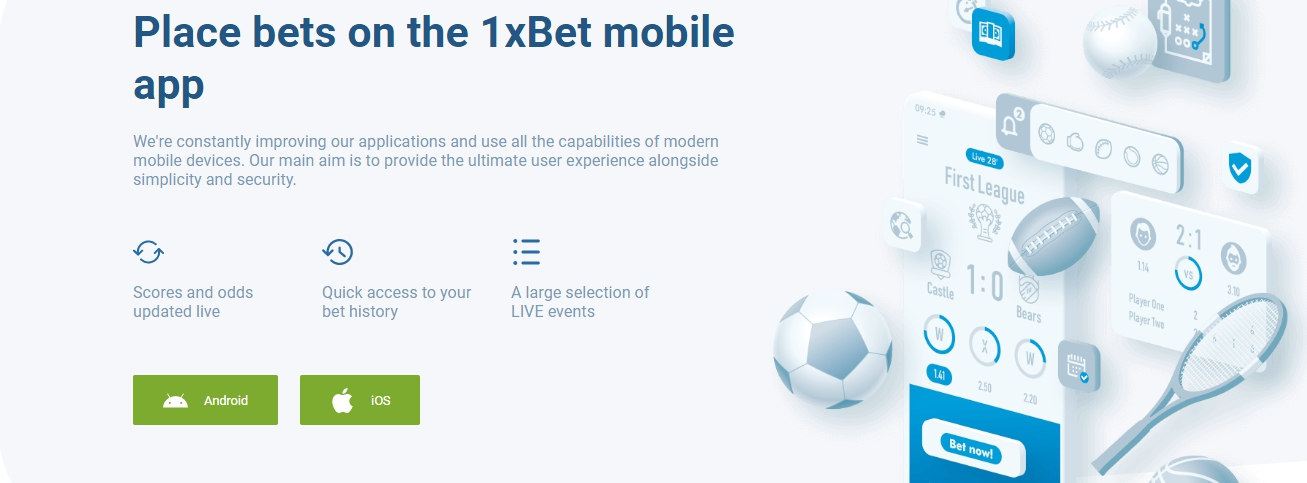 1xBet app for mobile