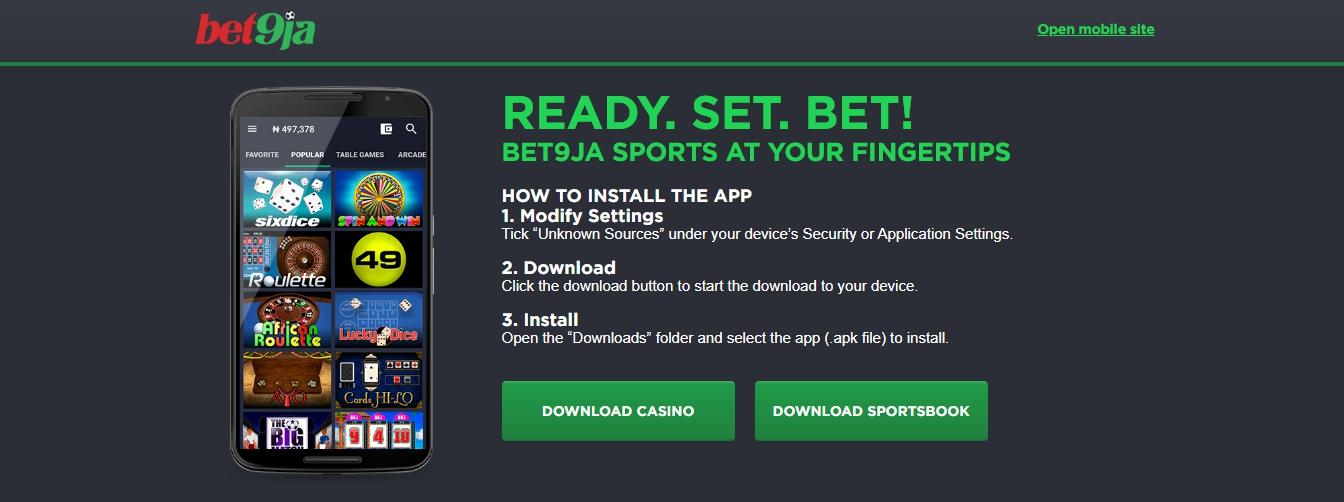 official bet9ja app download