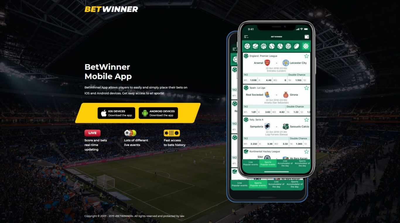 Betwinner Mobile Version and Mobile Application